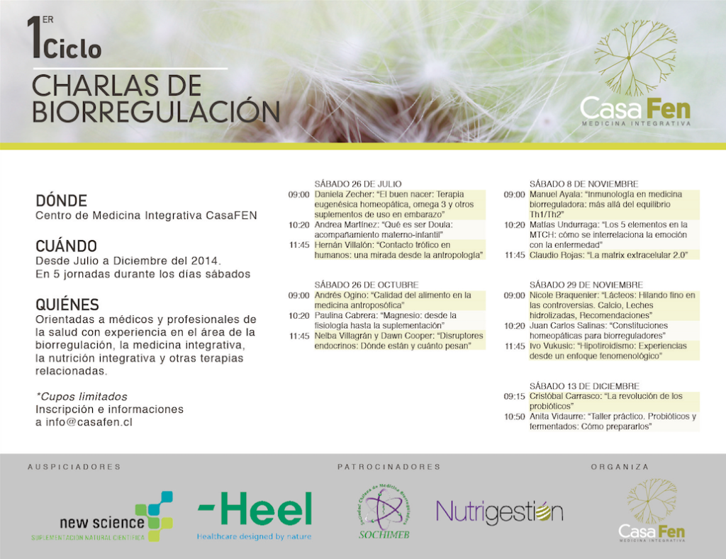 Primer Ciclo Biorregulación CasaFEN programa